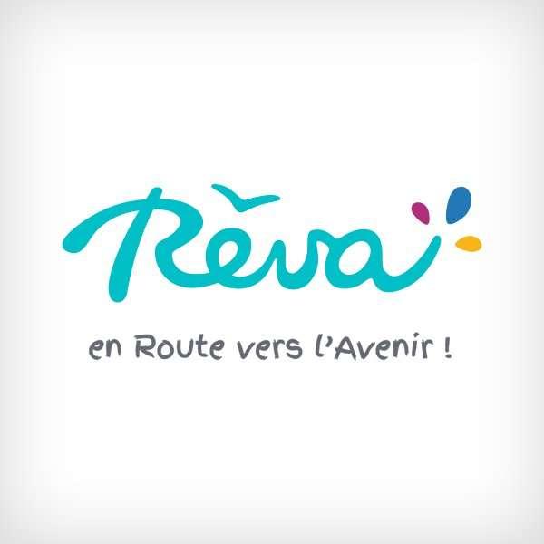 rêva - Logotype Reva en route pour lavenir 2 - Rêva Graphiste Lorient Paris Bretagne création logo site internet portfolio - Logotype Reva en route pour lavenir 2 - Portfolio Graphiste Lorient Paris Bretagne création logo site internet
